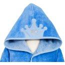 Smithy Kinderbademantel Multifaser, mit Krone in blau, Gr. 86/92