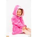 Smithy Kinderbademantel Multifaser, mit Krone in pink, Gr. 86/92
