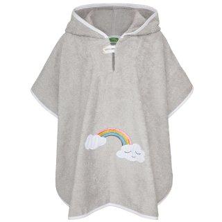 Smihy Badeponcho Wolke Regenbogen in grau, Größe 1 bis 3 Jahre