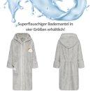 Smithy Kinderbademantelel Regenbogen und Wolken, Gr. 98/104