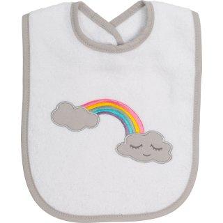 Lätzchen Regenbogen, weiß, 24 x 24