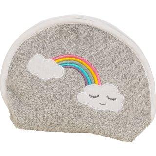 Waschbeutel Regenbogen, grau