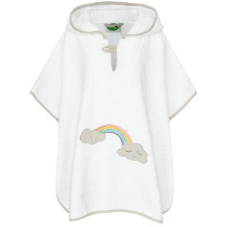 Smithy Badeponcho Wolke Regenbogen in weiß, Größe 1 bis 3 Jahre
