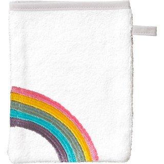 Smithy Waschhandschuh Regenbogen, weiß
