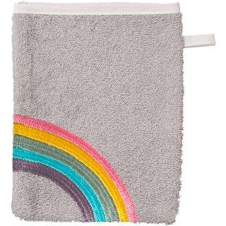 Smithy Waschhandschuh Regenbogen, grau