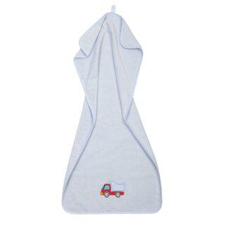 Handtuch Laster aus Premium-Baumwolle, hellblau (50x100 cm)