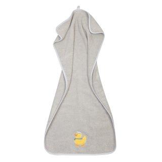 Handtuch Ente aus Premium-Baumwolle, hellgrau (50x100 cm)